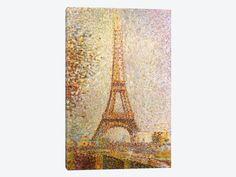 "Eiffel Tower by Georges Seurat Canvas Print 18"" L x 26"" H x 0.75"" D"