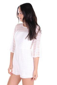 Adele Lace Playsuit White Lace Playsuit, White Playsuit, Adele, Shopping, Dresses, Women, Fashion, Vestidos, Moda