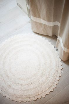 Cost Plus World Market Round Cotton Bath Mat Via Polyvore - Round bath mat for bathroom decorating ideas