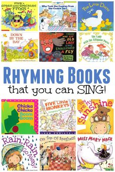 Rhyming Books that You Can SING! Rhyming Books that You Can SING! Have you ever noticed that music and literacy have such a strong connect. Rhyming Activities, Book Activities, Rhyming Kindergarten, Therapy Activities, Preschool Books, Books For Preschoolers, Preschool Music Activities, Preschool Literacy, Rhyming Words