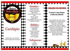 Cardápio Personalizado Tema Boteco   Josi Duarte   2CD0AC - Elo7