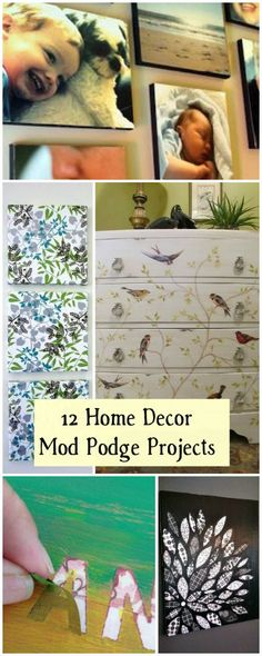 The best DIY projects & DIY ideas and tutorials: sewing, paper craft, DIY. Best Diy Crafts Ideas For Your Home 12 Home Decor Mod Podge Projects Diy Projects To Try, Crafts To Do, Decor Crafts, Home Crafts, Craft Projects, Diy Crafts, Craft Ideas, Fun Ideas, Diy Mod Podge