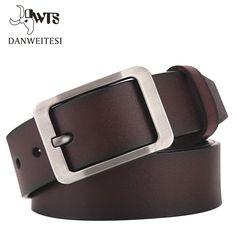 [Dwts] 2016 uomini della cinghia di cuoio genuino della cinghia di lusso cinture maschili per gli uomini fibbia fancy vintage jeans cintos masculinos ceinture homme