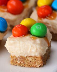 Caramel M&M'S Cheesecake Bites