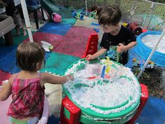 tons of water/sensory tables ideas