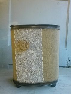 Your place to buy and sell all things handmade Rustic Bathroom Decor, Bathroom Ideas, Reuse, Upcycle, Burlap Decorations, Burlap Rosettes, Jute Twine, French Country, Repurposed