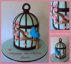 cake bird in cage - Google Search