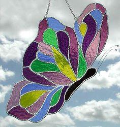 Mariposa vidrieras sol Catcher 7 x 12 mariposa