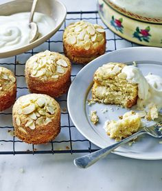 Apple and almond cakes - serve warm as a dessert or cold as a delicious treat