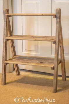 Cupcake Stand Rustic Wedding Reclaimed Wood Barn Tiered Ladder Rustic Barn Wedding Cupcake Stand by TheRusticAbyss Wooden Cupcake Stands, Diy Cupcake Stand, Cupcake Stand Wedding, Cupcake Display, Woodworking Toys, Woodworking Projects, Woodworking Basics, Popular Woodworking, Welding Projects