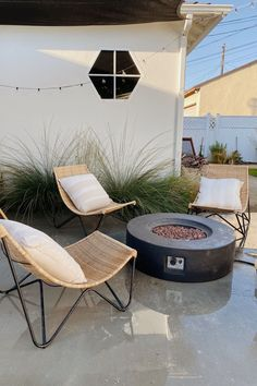 With a natural rattan wicker construction, the Ikast Lounge Chair has a well-traveled feel — while giving you the perfect place to stay put. Photo by @almostmakesperfect. #OutdoorFurniture #PatioFurniture #PatioDesign #PatioInspiration