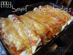 easy beef enchiladas Beef Recipes, Mexican Food Recipes, Cooking Recipes, Mexican Dishes, Recipies, Mexican Desserts, Cooking Tips, Hamburger Recipes, Freezer Cooking