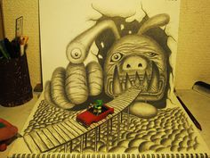 Incredible 3D Pencil Drawings by Nagai Hideyuki | Bored Panda