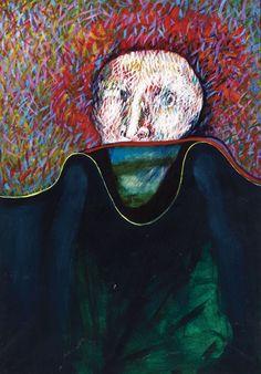 ERNESTO DEIRA, Retrato imaginario con paisaje incluído, Acrílico sobre lienzo, 99 x 70 cm. Painting, Tela, Canvases, Exhibitions, Art, Pintura, Portraits, Scenery, Painting Art