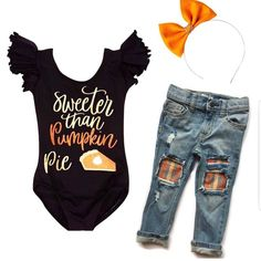 Pumpkin Pie is my favorite! 🧡 Fall baby girl style – Baby For look here Baby Girl Fall Outfits, Little Girl Outfits, Baby Girl Fashion, Kids Outfits, Girls Thanksgiving Outfit, Newborn Outfits, Newborn Clothing, Kids Clothing, Baby Boutique Clothing