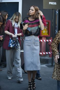 The Chanel Charade - 15x20:   more street style here ♡