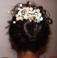 Beaded Hair Comb