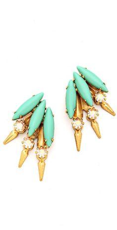 Elizabeth Cole // Petite Mohawk Earrings