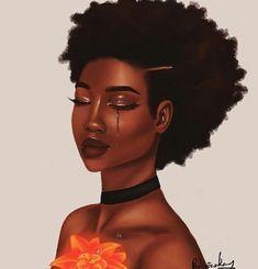 Because i love black art 🖼 Black magic ✨ Art 🖼 . Art Black Love, Black Girl Art, My Black Is Beautiful, Black Girl Magic, Natural Hair Art, Natural Hair Styles, Natural Beauty, African American Art, African Art