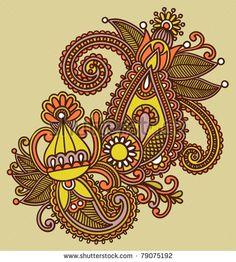 ornate flower design elements