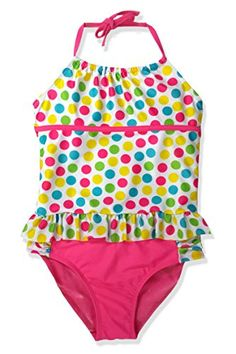 a3591e20a2 JumpN Splash Girls Polka Dot Party Ruffle Tankini w Matching FlipFlops  Goggles 78 >>> Details can be found by clicking on the image.