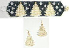 Instant Download - White Christmas Bracelet & Earrings Pattern