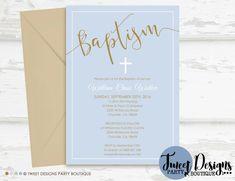 Boy Christening Invitations, Boy Baptism Invitation, Print yourself, Christening Printable, Baptism Printable, Naming Day Invitations