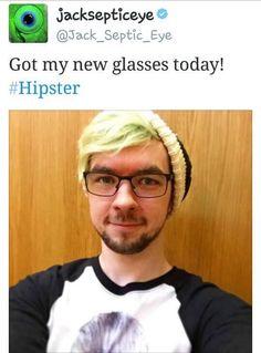 Jacksepticeye in glasses