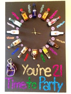 Best Friend Gifts - time to party - Pinme Friend Birthday Gifts, Birthday Diy, Best Friend Gifts, Gifts For Friends, 21st Birthday Gifts For Boyfriend, 21 Birthday Quotes, 18th Birthday Gifts For Best Friend, Birthday Cards, 21st Gifts