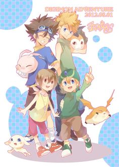 Digimon by 五月艾@転載禁止 via http://www.pixiv.net/member_illust.php?id=1341120