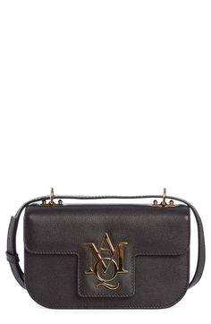 ALEXANDER MCQUEEN 'Small Amq' Calfskin Leather Shoulder Bag. #alexandermcqueen #bags #shoulder bags #leather #