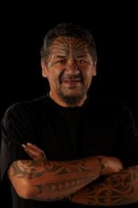 Mark works prodiminantly as a Moko artist he carved for over 23 years working on 7 meeting houses. During a 35 year long career in Maori art he has also worked in paint, pen and paper, weaving, and kapahaka. Mark has travelled extensively as an ambassador of Maori art around the world, educating about Ta Moko. He is respected for his contribution to this artform and has taught many new, emmerging and established Moko artists and carvers. His studio is at; 11 Jillett Street, Titahi Bay.