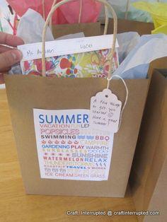 Craft, Interrupted: Teacher Gifts ~ Easy Gift Bag