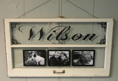 Vintage Window Two Pane Family Name by VaughnCustomCreation, $75.00. PERSONALIZED FOR YOU! CUSTOM ORDERS!  great for wedding or anniversary gifts! vinyl. family.  wedding decor. home decor.