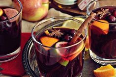Mulled Wine or Glühwein is a warm winter German version of sangria that tastes like Christmas. Start a new family tradition with this belly-warming hot holiday punch recipe Cocktail Drinks, Fun Drinks, Yummy Drinks, Cocktail Recipes, Alcoholic Drinks, Cocktails, Beverages, Punch Recipes, Wine Recipes