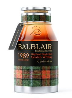 Balblair, Highland Single Malt Scotch Whisky / 1989.