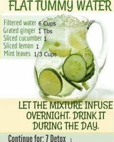 KETO – Easy Flat Tummy Water Rezept (Ingwer Zitrone Gurke Minze Wasser Rezept) … KETO – Easy Flat Tummy Water Recipe (Ginger Lemon Cucumber Mint Water Recipe) – No more junk food –