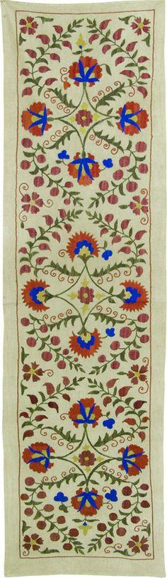 Vintage  Handmade Blossom Suzani Zardevor For by SilkRoadCaravans, $120.00