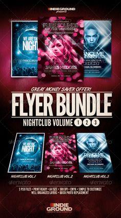 Nightclub Flyer/Poster Bundle Vol. 1-3