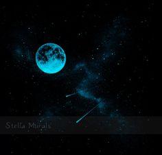 Glow in the Dark Self-Adhesive Star Mural  Full by StellaMurals