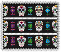 Dia De Los Muertos Day of the Dead Halloween 2 Celebration Birthday Cake Borders Designer Prints Edible Image Cake Decoration -- You can get more details by clicking on the affiliate link Amazon.com.