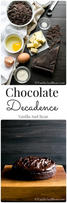 Easy to whip up.. it's the waiting to chill that's the hardest part. Rich and oh so decadent, Chocolate Decadence Cake | Gluten Free