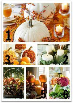 Six Easy Thanksgiving Centerpiece Ideas   Lighting & Interior Design Ideas Blog