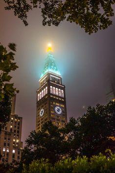 New York on a foggy night