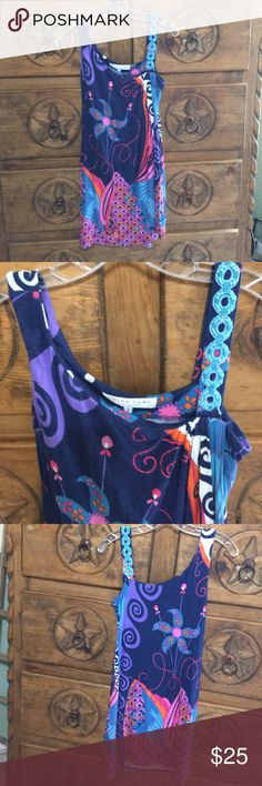 Trina Turk adorable dress This darling dress has a jeweled shoulder that gives it that wow factor. Hits me mid knee. I am 5'7 and a half. Gentle wear. Sold in high end boutiques. Great deal on this cutie. Trina Turk Dresses Midi