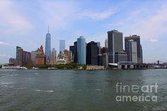 Fantastic #NewYork #skyline. New York Strong by Debbie Forand #fineart #decor #nyc #USA
