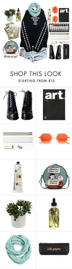 """""""contest"""" by anne-977 ❤ liked on Polyvore featuring Kartell, Kate Spade, TokyoMilk, Olympia Le-Tan, Measurable Difference, CC, Neiman Marcus and winterscarf"""