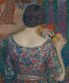 Color & Light — Leon de Smet - Maria with flowers - 1915