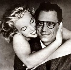 Mr & Mrs Arthur Miller, Richard Avedon. He looks like the cat who's swallowed the canary. Lucky dog.