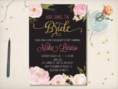 Elegant Bridal Shower Invitation Spring by VintageBellsAndCo